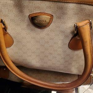 Handbags - Vintage Gucci Monogram Canvas Satchel